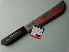 """Friday the 13th - Jason Voorhees signed toy machete- signed by Jason Voorhees actor Ari Lehman from part 1 with extra inscription """"I Run Camp Crystal Lake!"""""""