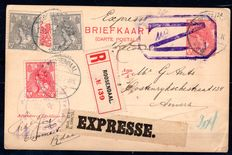 Netherlands 1916 - Express & Registered Postcard Roosendaal -> Antwerp