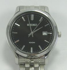 Seiko Date 100m 6N42-00F0 – Mens wrist watch