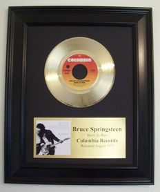 Bruce Springsteen - Born to run 24k Goldplated, Golden record