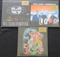 Wu-Tang Clan / DJ Krush / Fun Lovin' Criminals: Great lot of 3 RAP/ HIP HOP albums (8 LP's), all limited, numbered, coloured 180 gram vinyl. All titles are long out of print editions!