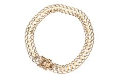 Yellow gold, link bracelet of 14 kt