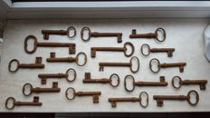 Collection of iron keys