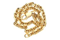 Yellow gold anchor link bracelet in 18 kt.