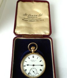 benson english rare pocket watch. london 1927