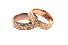 Engagement rings / wedding ring made from 333 8 kt red gold