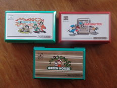 Lot of 3 Nintendo Game & Watch - Bomb Sweeper - Safe Buster - Green House