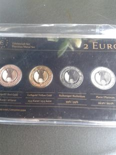 Germany - 2 Euro 'Precious Metal Set' 2011 German Eagle (4 different coins)