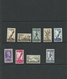 Italy 1941 - English Occupation of Somalia- A.O.I. Sassone no. 1/9