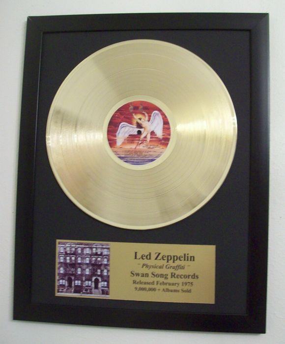 Led Zeppelin - Physical Graffiti - Golden record LP
