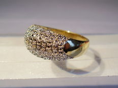 Diamond cocktail ring, in total 0.04 ct