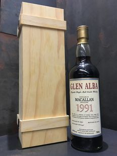 Macallan 19 Year Old Glen Alba 1991 in Wooden Box