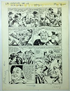 Marcello, Raphael Carlo - original page + colour indications - Rin Tin Tin - Le convoi de la haine
