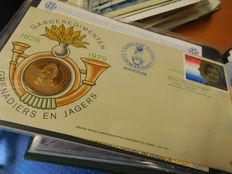 Netherlands and Europe – Batch of 350 covers and FDCs