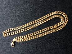 18 kt gold curb necklace