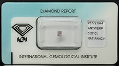 0.27 ct Natural Fancy Light Pink Diamond – NO RESERVE