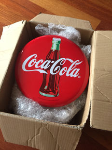 Old rarity - Enamelled Coca-Cola advertising collector advertising sign from California USa
