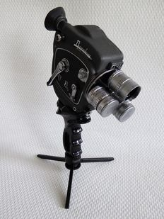 Beaulieu TR8 camera, mechanical double 8 camera with turret and three Angenieux lenses (1959-1963)
