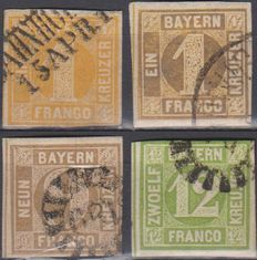 German states, Bayern 1862/1920 - A Small collection.