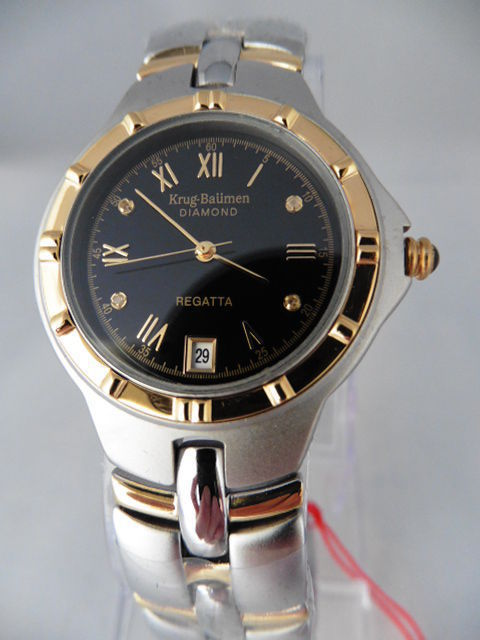 Krug Baumen Regatta Diamond - men's wristwatch - never worn