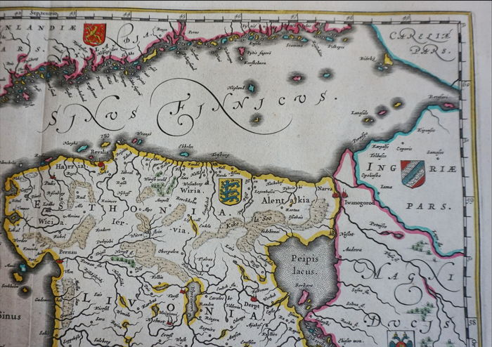 Latvia Estonia Lithuania Sweden Finland Baltic Sea Willem - Map sweden 1650
