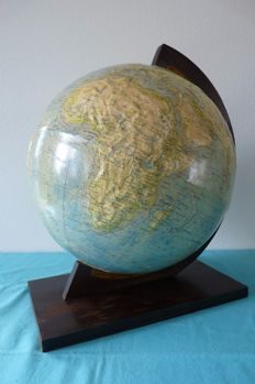 Rath/Krause - Antique Embossed Globe with Art Deco foot