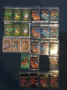Pokemon vintage sealed booster collection