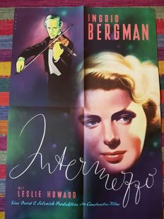 Bruno Rehak (1910-1977) - Movieposter Intermezzo : A Love story Ingrid Bergman & leslie Howard