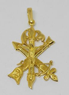 18 kt yellow gold cross - Spanish Legion