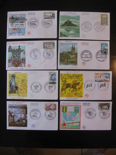 France 1966/1989 - Collection of 998 first day cover envelopes