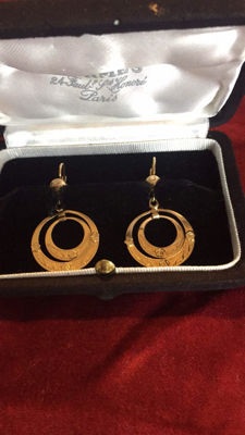 Gold earrings of 18 kt