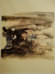 Zao Wou-Ki  赵无极 (after ) - Untitled