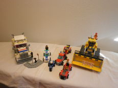 City / Model Team - 7685 + 7942 + 3648 + 5580 - Dozer + Off Road Fire Rescue + Police Chase + Highway Rig