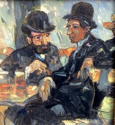 Unknown (20th century)-Café scene