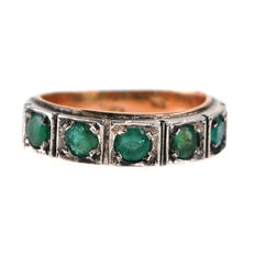 Emerald, Gold, Silver Ring