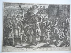 Two prints by Antonio Tempesta (1555-1630) - Épreuves de l'histoire de David n° 16 -David tue Goliath and  n° 17 - David triomphe de Goliath - 1613
