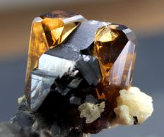 Damage Free Topaz Specimen with Smokey Quartz & Albite - 61*40*40 mm -98 gm