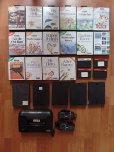 Sega Master System II console without cables, with 2 joysticks and 25 games