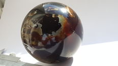Unusual sphere of Mexican Amber - 63mm - 130gm