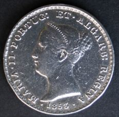 Portugal – 500 Reis (SILVER) – 1853 – D. Maria II – Lisbon – EXTREMELY RARE