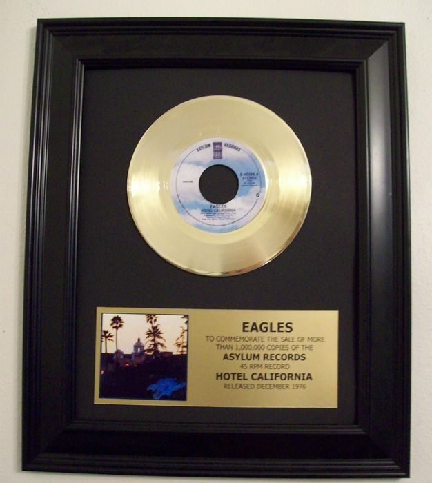 The Eagles - Hotel California 24k Goldplated, Golden record
