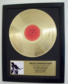 Gold Record Bruce Springsteen Born to run 24krt Gold Plated certificate