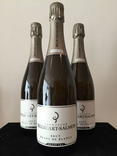 Billecart Salmon Blanc de Blancs Grand Cru Champagne – Lot of 3 bottles.
