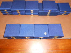 Republic of Italy –Lot of 27 boxes from 1985 to 1999 (silver)
