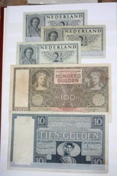 World - album with 200 banknotes including The Netherlands
