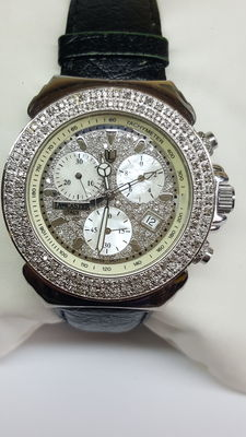 Lancaster bling diamond, Pillo Deco watch set with approx. 160 diamonds, no reserve!