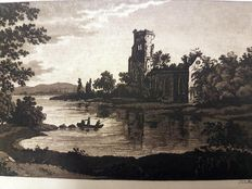 F.A. Dieterich - Landscape with ruin - ca late 18th or 19th century