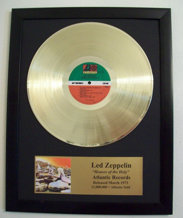 Led Zeppelin - Houses of the holy - Golden record LP