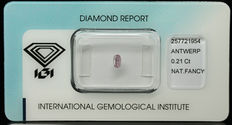 0.21 ct Natural Fancy Purplish Pink Diamond – NO RESERVE