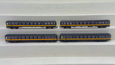 "Fleischmann N - 8656K - Set of 4 carriages type ""Plan W"" of the NS"